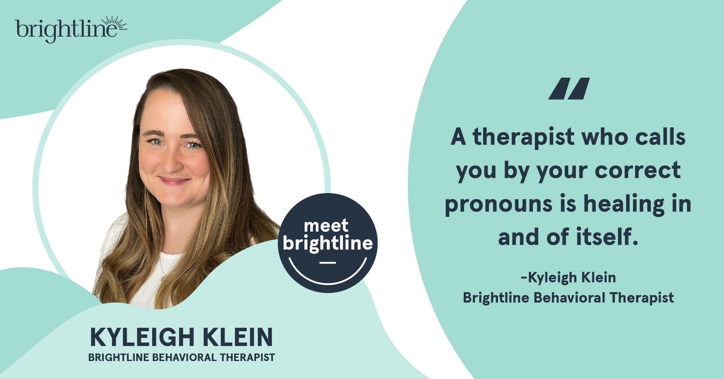 Brightline therapist Kyleigh Klein